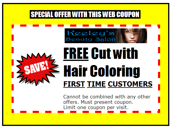 Hair salon coupons